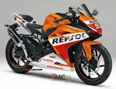 2016 / 2017 Honda CBR250RR Repsol SportBike Motorcycle | CBR350RR CBR300RR - Light Weight Super Sports Concept