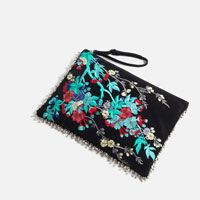 Zara Embroidered Leather Clutch $90