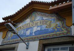 Painel de Azulejo: Nome da Estação - Castelo de Vide | Flickr – Compartilhamento de fotos!