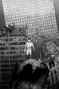 "Scan from ""Akira Club"", Katsuhiro Otomo. Click picture for HD scan. Manga Artist, Comic Artist, Miyagi, Manga Akira, Cyberpunk, Graphic Novel, Katsuhiro Otomo, Comic Layout, Grunge Art"