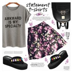 """""""Say It Loud: Slogan T-Shirts"""" by katjuncica ❤ liked on Polyvore featuring Loewe and slogantshirts"""