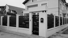 Home Gate Design, Modern Fence Design, Compound Wall, Gate House, Door Gate, Entrance Gates, Outdoor Areas, Modernism, Terrazzo