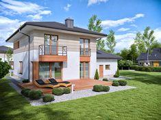 Projekt Domena 311 B 147,76 m2 - koszt budowy 225 tys. zł - EXTRADOM Home Fashion, House Design, Mansions, House Styles, Home Decor, Projects, Mansion Houses, Decoration Home, Manor Houses