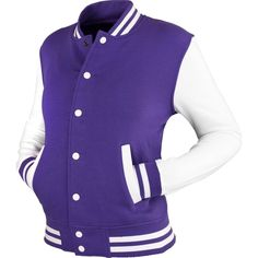 Urban Classics 2-tone College Sweat jacket (Purple/White) ❤ liked on Polyvore