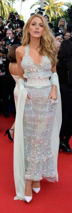Blake Lively In Chanel Spring 2014 Couture Collection - can't even with this dress