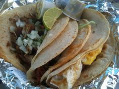 we should try this place! voted one of the best tacos in nation by rachel ray. tacos la flor.