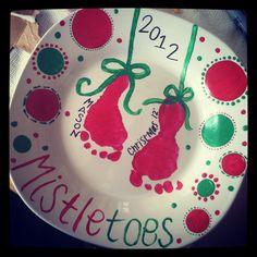 DIY Christmas plate!! Baby masonnn❤