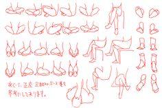 legs sit hips manga anatomy