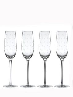 larabee dot flutes set - Can't wait until Feb. to put these babies to use! Available at Macy's, Bed Bath and Beyond, etc.