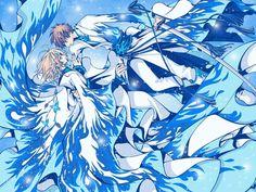 Syaoran and Sakura (Tsubasa RESERVoir CHRoNiCLE) Anime Chibi, Manga Anime, Manga Art, Kawaii Anime, Anime Art, Cardcaptor Sakura, Syaoran, Dreamworks, Anime Fanfiction