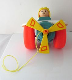 Vintage Fisher-Price Pull Plane Toy 1980s 8 by SaturdayMorningM