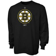 Reebok Boston Bruins Black Primary Logo Long Sleeve T-shirt - because maybe it's a bit cold for shortsleeves.