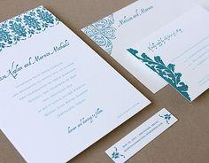 Plaid invitation suite - as seen in Martha Stewart Weddings