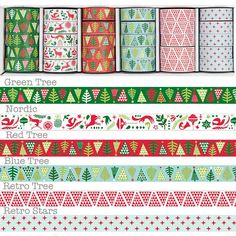 Christmas Washi Tapes, in Nordic plz&thnku