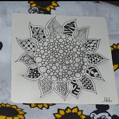 """Zentangle Sunflower by """"The Diva"""". So beautiful n"""