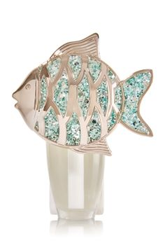 Glitter Fish Nightlight Wallflowers Fragrance Plug - This fun fish leads the way to style with a soft glow and a touch of sparkle!