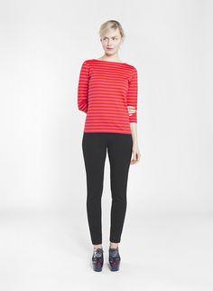 ILMA SHIRT ORANGE/RED 751 Marimekko, Fall Winter, Normcore, Red Raspberry, Stripes, Orange Red, T Shirt, Clothes, Collection