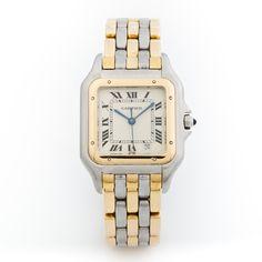 Cartier Watch in Gold & Silver.