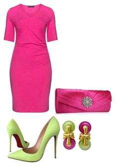 """Untitled #3391"" by bbossboo ❤ liked on Polyvore featuring Christian Louboutin, Manon Baptiste and Marina B"