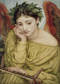 1870 Sir Edward John Poynter (English 1836-1918) ~ 'Erato, Muse of Poetry'