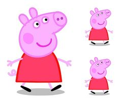 Peppa Pig: Frames, Invitations or Cards.