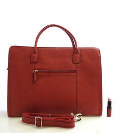770e177598f  luxus  kůže  kabelka Červená dámská luxusní kožená aktovka Hexagona.  Dovolte si nesplynout