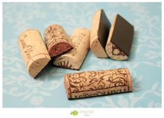 diy wine cork magnets- cute! - better idea: cut corks in half, make slit in top, insert table number! or name for table settings!