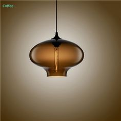(In Stock) Hand-Blown Glass Pendant Light Fish Bowl Shade Ceiling Fixture with 1 Light Coffee Color Dining Room Lighting Ideas Living Room Bedroom Lighting(Color of Love) Dining Room Colors, Dining Room Lighting, Bedroom Lighting, Ceiling Fixtures, Ceiling Lights, Blown Glass Pendant Light, Pond Lights, Bubble, Contemporary Decor