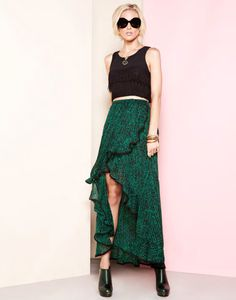 By Dress The Population ... Emerald skirt