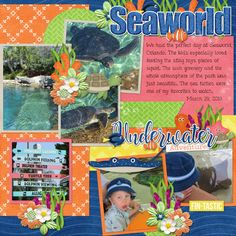 Find the Fish kit, embossed papers, extra alphas, template, and word art by Connie Prince