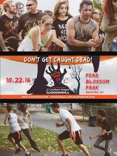 Goodwill Running Dead 5k | Medford, Oregon - Rogue Valley - Jackson County - Southern Oregon   - Chase or be chased!  Ages 9 and up.  4-8 Kids Survivor Spring  http://regtorace.com/event/159 sponsored