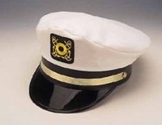 CAPTAIN'S YACHT CAP WITH GOLD TRIM