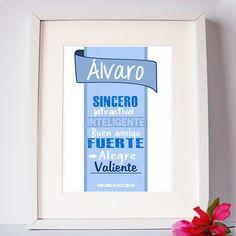 Láminas y tazas personalizadas con tu nombre o el de la persona a la que quieres sorprender   Pídela en http://ift.tt/1n71PmC  #virusdlafelicidad #lamina #taza #personalizada #alvaro