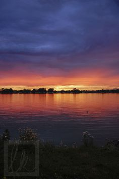 """""""St. Clair Sunset"""" by Lorraine Kraayenbrink  My aunt is so talented!!!"""
