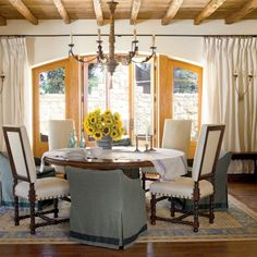 Creative Ideas For Outdoor Fabric Airy Dining Room Southern Living Homes Coastal