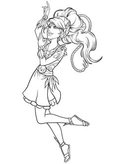 Coloring page Lego Elves: aira