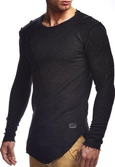 LEIF NELSON Herren oversize Sweatshirt Hoodie Hoody LN6323: Amazon.de: Bekleidung
