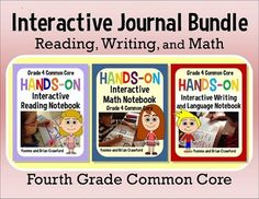 Interactive Notebook Hands-On Fourth Grade Common Core Bundle $
