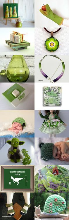 Green find's ''for all members team''. by Kate Skate on Etsy--Pinned with TreasuryPin.com