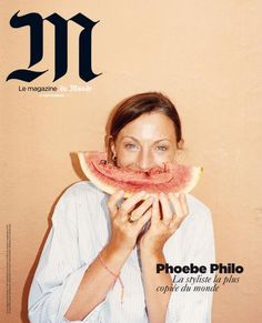 M (France) Phoebe Philo by Juergen Teller  M, a lifestyle magazine about current events and fashion from Le Monde from France, launched September 2011.  Editor in chief : Marie Pierre Lannelongue Creative director : Eric Pillault Director of Photograpy: Lucy Conticello