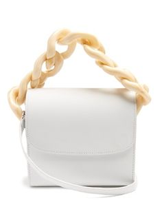 Oversized curb-chain leather shoulder bag | Marques'Almeida | MATCHESFASHION.COM US