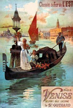 Vintage Travel Destination Art Poster Print Postcard ☮~ღ~*~*✿⊱  レ o √ 乇 !! ~ French vintage railway poster