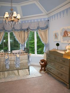 A Royal Prince nursery in Baby Blue and Silver!