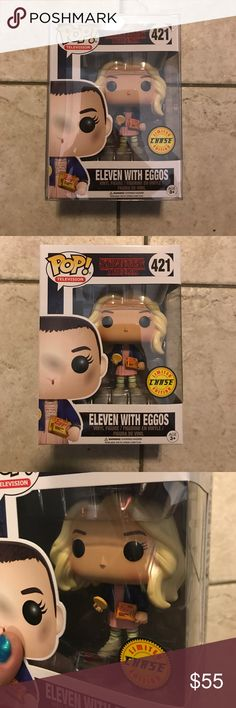 Stranger Things ELEVEN Chase Funko Pop BRAND NEW IN BOX*NO TRADES*PRICE IS FIRM*Will ship well packaged in Protective plastic sleeve #Eggos #Pop Television   #Netflix Original Accessories