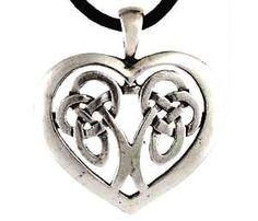 Celtic Heart Pendant Necklace