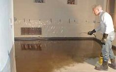 Step 3: Applying acid concrete stain  http://www.howtostainconcretefloors.com/how-to-stain-concrete-floors-part-2/