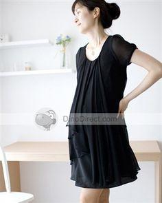 pretty light chiffon maternity dress