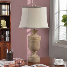 Foxhill Trading L-GV2881 31-in Wood Texture Table Lamp | ATG Stores