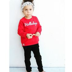 """Little Wonderland Clothing on Instagram: """"HOLLADAYS!!!  Talk about Santa Claus is coming to town soon!!! ⛄️ YES, we will have some black fri-yay deals!! <notifications on>  Now let's enjoy all this cuteness!! Tinley rockin our HOLLADAYS fleece <HOLLA> + cute distressed denim @farmfreshdenim + Wild headwrap @autumnnicoledesigns  ok one more time <HOLLA> #instafashion #fashionista #styles #leo #streetstyle #ootd #style #trendykiddies #hipsterkidstyles #trendy_tots #igkiddies"""