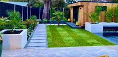 Rectangle Garden Design, Modern Garden Design, Outdoor Landscaping, Outdoor Decor, Greater London, Creative Landscape, Garden Inspiration, Garden Ideas, Sidewalk